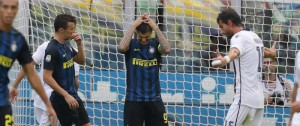 Mauro Icardi dopo il rigore sbagliato contro il Cagliari. (AP Photo/Luca Bruno)